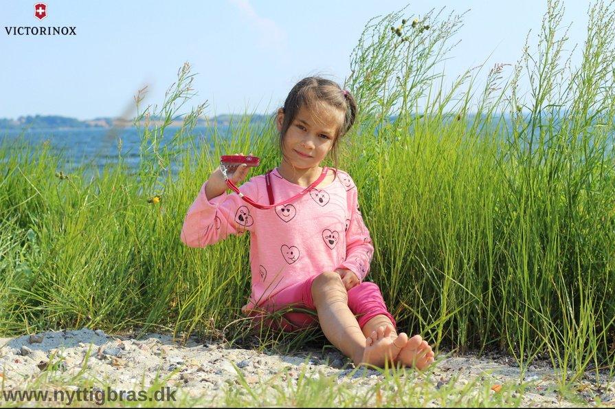Børne-Schweizerkniv med på strandturen
